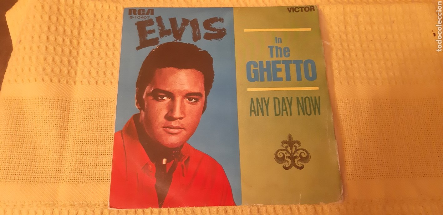ELVIS PRESLEY. SINGLE. IN THE GHETTO. ANY DAY NOW. 3.10407. VICTOR. ESPAÑA. 1969. (Música - Discos - Singles Vinilo - Rock & Roll)