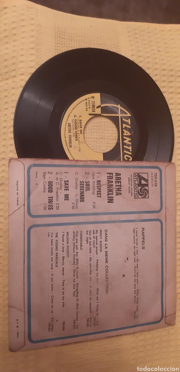 Discos de vinilo: MUY DIFICIL!!!. ARETHA FRANKLIN. EP. FRANCE. RESPECT. SOUL SERENADE. SAVE ME. GOOD TIMES.ATLANTIC - Foto 2 - 186280072