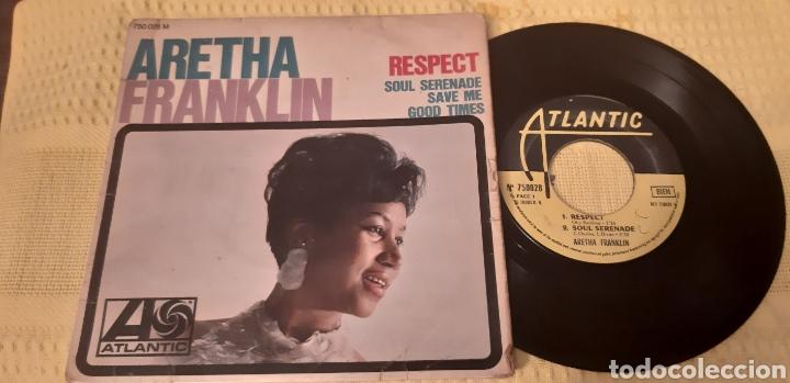 MUY DIFICIL!!!. ARETHA FRANKLIN. EP. FRANCE. RESPECT. SOUL SERENADE. SAVE ME. GOOD TIMES.ATLANTIC (Música - Discos de Vinilo - EPs - Funk, Soul y Black Music)
