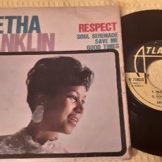 Discos de vinilo: MUY DIFICIL!!!. ARETHA FRANKLIN. EP. FRANCE. RESPECT. SOUL SERENADE. SAVE ME. GOOD TIMES.ATLANTIC. Lote 186280072