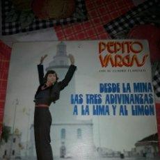 Discos de vinilo: PEPITO VARGAS. DESDE LA MINA . EDICION MUSIMAR. RARO. Lote 186281922