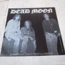 Discos de vinilo: DEAD MOON / LA SECTA FLEXI - MUSTER RECORDS1990 - FLEXI DE LA REVISTA HEARBEAT. Lote 186282003
