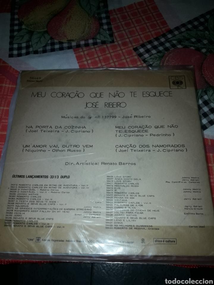 Discos de vinilo: José Ribeiro. Meu coracao que nao te esquece. Edicion CBS Brazil. Raro para coleccionistas - Foto 2 - 186282086