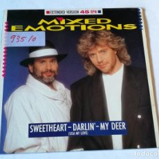Discos de vinilo: MIXED EMOTIONS - SWEETHEART - DARLIN' - MY DEER (LISA MY LOVE) (EXTENDED VERSION) - 1987. Lote 186288055