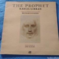 Discos de vinilo: THE PROPHET. KAHLIL GIBRAN. BSO. RICHARD HARRIS. Lote 186288210