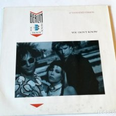 Discos de vinilo: BERLIN - YOU DON'T KNOW - 1987. Lote 186288387