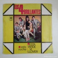 Discos de vinilo: LOS 4 BRILLANTES - ESTA NOCHE / ESTA TARDE VI LLOVER 1967 SINGLE CBS. Lote 186289442