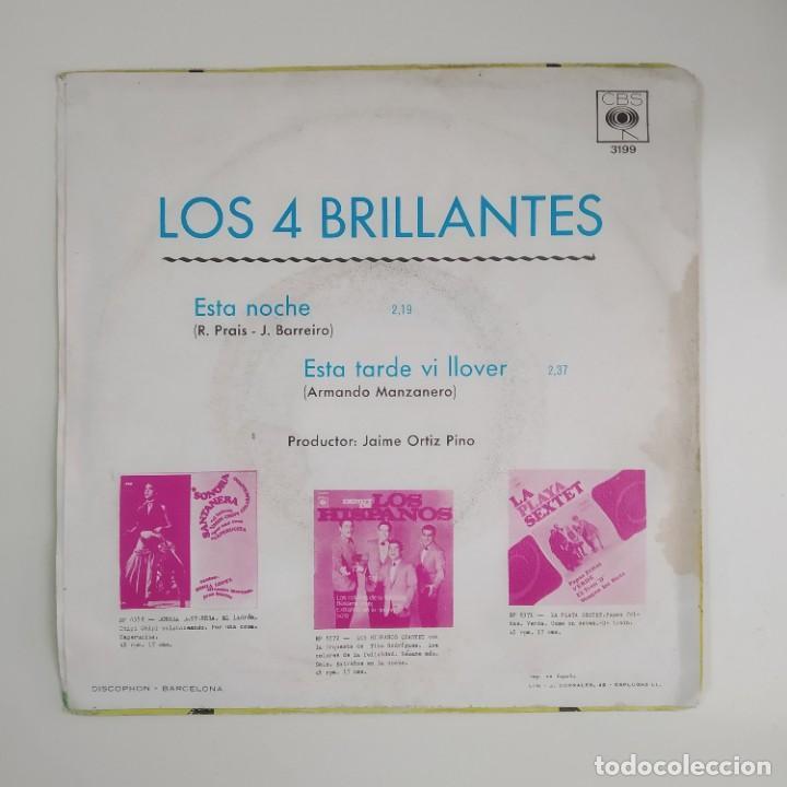 Discos de vinilo: Los 4 Brillantes - Esta Noche / Esta Tarde Vi LLover 1967 SINGLE CBS - Foto 2 - 186289442