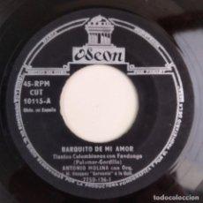 Discos de vinilo: ANTONIO MOLINA - BARQUITO DE MI AMOR / CALMA ESTA AGONIA ODEON CUBA. Lote 186289768