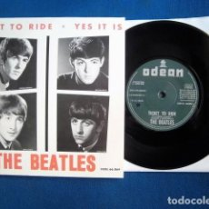 Discos de vinilo: BEATLES SINGLE ESPAÑA TICKET TO RIDE COLECCION SINGLES DEL MUNDO 2019 EDICION SOLA SIN BOX. Lote 186301652
