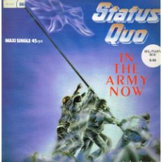 Discos de vinilo: STATUS QUO - IN THE ARMY NOW / HEARTBURN / LATE LAST NIGHT - MAXISINGLE1986. Lote 186303092