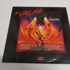 Discos de vinilo: TRITONZ – THE EDGE OF HELL---EDICION ESPAÑOLA 1987. Lote 186305000