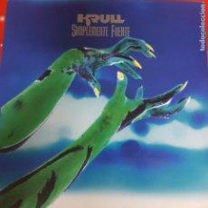 Discos de vinilo: KRULL - LP - SIMPLEMENTE FUERTE - ROCK CANARIO - 1991 - CON ENCARTE. Lote 186313693