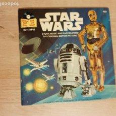 Discos de vinilo: STAR WARS BOOK AND RECORD - DISCO SINGLE VINILO 7' + LIBRO (BOOKLET) DE 24 PAG. (USA, 1979). Lote 186320218