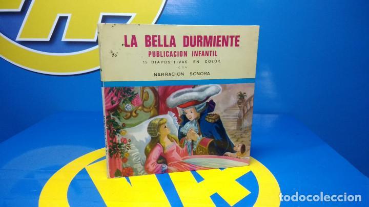 LA BELLA DURMIENTE PUBLICACIÓN INFANTIL - 15 DIAPOSITIVAS COLOR CON NARRACIÓN SONORA -COLECCIONISMO (Música - Discos de Vinilo - EPs - Música Infantil)