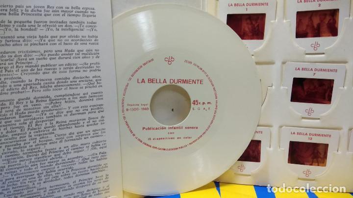 Discos de vinilo: La Bella Durmiente Publicación Infantil - 15 Diapositivas color con narración sonora -coleccionismo - Foto 4 - 186320861