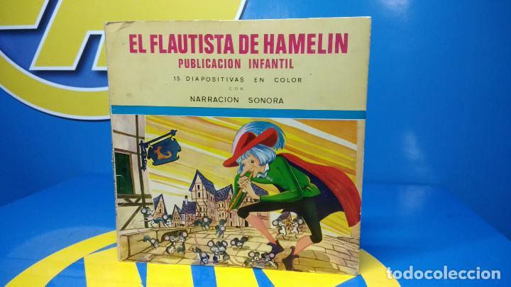 EL FLAUTISTA DE HAMELIN PUBLICACIÓN INFANTIL - 15 DIAPOSITIVAS EN COLOR CON NARRACIÓN SONORA (Música - Discos de Vinilo - EPs - Música Infantil)