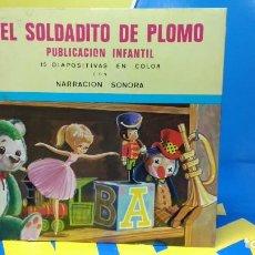 Discos de vinilo: EL SOLDADITO DE PLOMO PUBLICACIÓN INFANTIL - 15 DIAPOSITIVAS EN COLOR CON NARRACIÓN SONORA . Lote 186321795