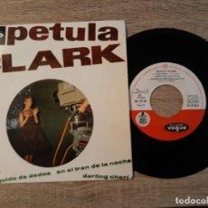 Discos de vinilo: PETULA CLARK ,CHARIOT,CHASQUIDO DE DEDOS ETC..1962.. Lote 186322290