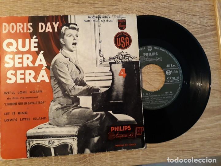 DORIS DAY, WE'LL LOVE AGAIN .DU FILM PARAMOUNT.QUE SERÁ SERÁ. PHILIPS. (Música - Discos de Vinilo - EPs - Pop - Rock Internacional de los 70)