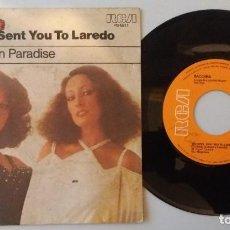 Discos de vinilo: BACCARA / THE DEVIL SENT YOU TO LAREDO / SINGLE 7 INCH. Lote 186325720