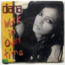 Discos de vinilo: DIANA (DIANA ROSS) - WORKIN' OVERTIME - SINGLE MOTOWN 1989 USA BPY. Lote 186327231