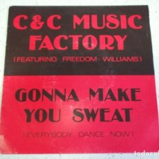 Discos de vinilo: C & C MUSIC FACTORY* FEATURING FREEDOM WILLIAMS - GONNA MAKE YOU SWEAT (EVERYBODY DANCE NOW) 1990. Lote 186332942