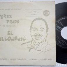 Discos de vinilo: PEREZ PRADO Y SU ORQUESTA - EL MILLONARIO - EP 1959 - RCA. Lote 186334925