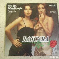 Discos de vinilo: BACCARA – YES SIR, I CAN BOOGIE - CARA MIA 1977-GERMANY SINGLE RCA. Lote 186335487