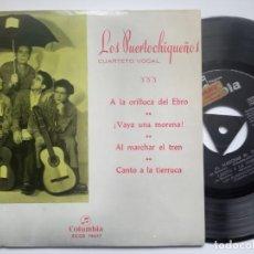 Discos de vinilo: LOS PUERTOCHIQUEÑOS - A LA ORILLA DEL EBRO - EP 1969 - COLUMBIA. Lote 186337936