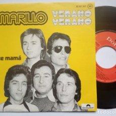 Discos de vinilo: AMARILLO - VERANO VERANO / DULCE MAÑANA - SINGLE 1974 - POLYDOR. Lote 186338487