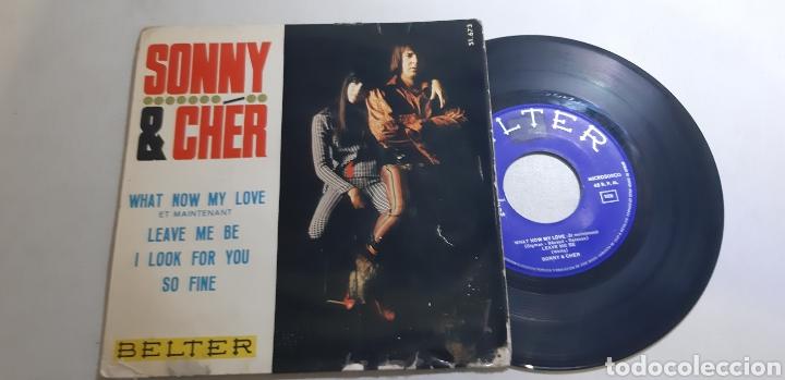 SONNY & CHER. EP. WHAT NOW MY LOVE. LEAVE ME BE. I LOOK FOIR YOU. SO FINE. BELTER. 51.673. VG/VG++ (Música - Discos de Vinilo - EPs - Pop - Rock Extranjero de los 70)