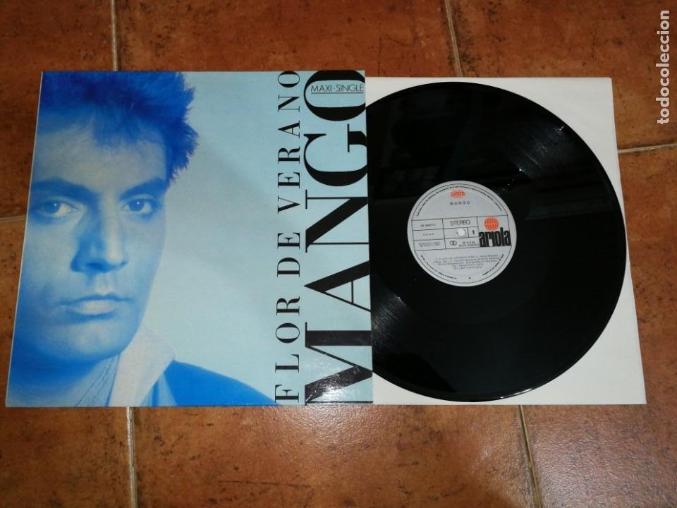 MANGO FLOR DE VERANO MAXI SINGLE VINILO DEL AÑO 1987 ESPAÑA ARIOLA CONTIENE 3 TEMAS (Música - Discos de Vinilo - Maxi Singles - Canción Francesa e Italiana)