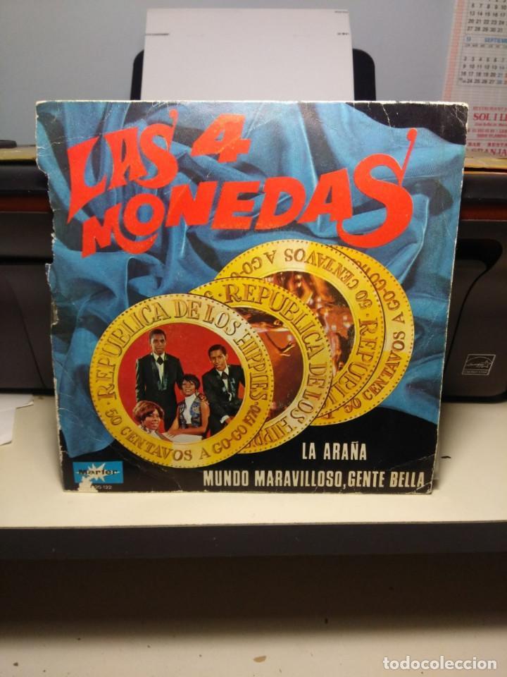 SG LAS CUATRO MONEDAS : LA ARAÑA (Música - Discos - Singles Vinilo - Grupos y Solistas de latinoamérica)