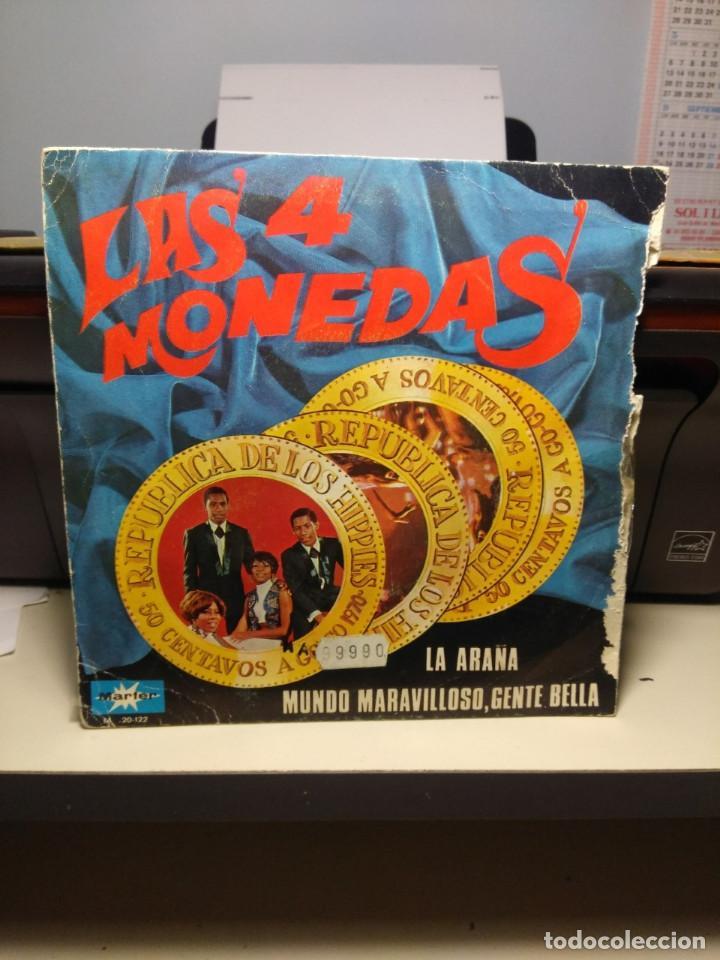 Discos de vinilo: SG LAS CUATRO MONEDAS : LA ARAÑA - Foto 2 - 186342671