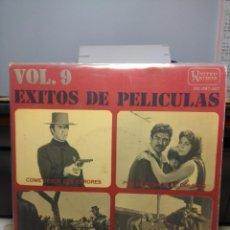 Discos de vinilo: EP EXITOS DE PELICULAS ( ENNIO MORRICONE + DOMINIC FRONTIERE + LEROY HOLMES ). Lote 186343647