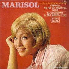 Discos de vinilo: MARISOL - DISCO DE FRANCIA - CABRIOLA - EL COCHECITO - YA NO ME IMPORTAS NADA - IL MIO MONDO E QUI . Lote 186344756