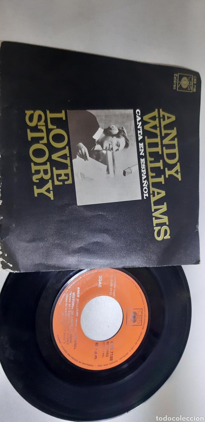 Discos de vinilo: Andy Williams. Canta en español. Love story. Es imposible. Vmcbs. 7188. Raro? - Foto 2 - 186347398