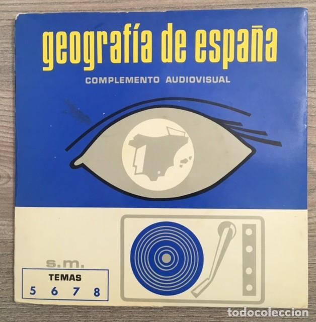 GEOGRAFÍA DE ESPAÑA - COMPLEMENTO AUDIOVISUAL - DOS DISCOS (Música - Discos de Vinilo - EPs - Otros estilos)