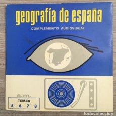 Discos de vinilo: GEOGRAFÍA DE ESPAÑA - COMPLEMENTO AUDIOVISUAL - DOS DISCOS. Lote 186352387
