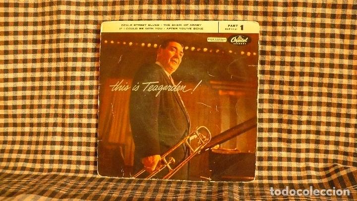 JACK TEAGARDEN – THIS IS TEAGARDEN! PART 1, CAPITOL RECORDS – 1-721,1956, TEMAS EN DESCRIPCIÓN-- (Música - Discos de Vinilo - EPs - Jazz, Jazz-Rock, Blues y R&B)