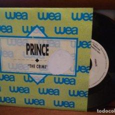 Discos de vinilo: PRINCE THE CRIME SINGLE SPAIN 1989 PDELUXE. Lote 186354435