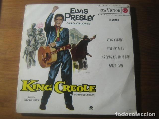 ELVIS PRESLEY - KING CREOLE BSO ******** RARO EP PORTADA CARTÓN CERRADA 1962 BUEN ESTADO (Música - Discos de Vinilo - EPs - Rock & Roll)