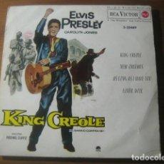 Discos de vinilo: ELVIS PRESLEY - KING CREOLE BSO ******** RARO EP PORTADA CARTÓN CERRADA 1962 BUEN ESTADO. Lote 186358902