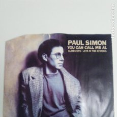Discos de vinilo: PAUL SIMON YOU CAN CALL ME AL / GUMBOOTS / LATE IN THE EVENING ( 1986 WEA UK ) . Lote 186360056