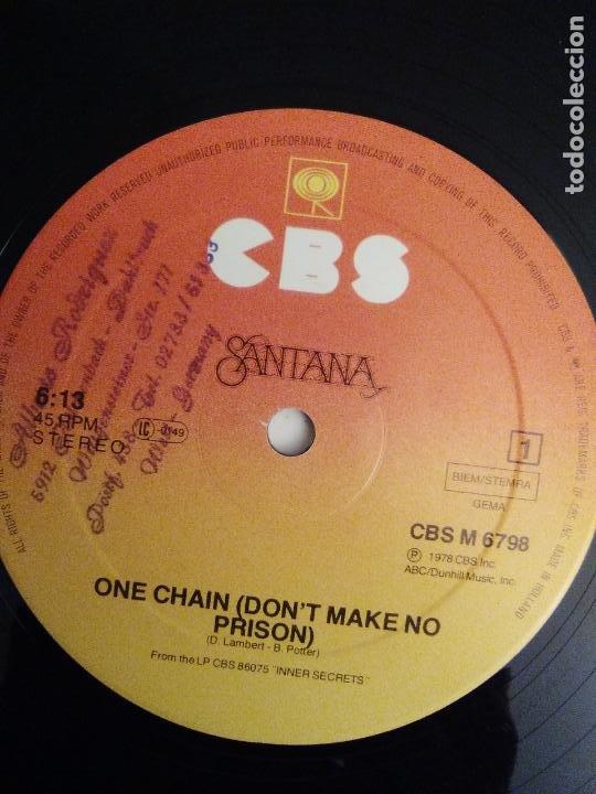 Discos de vinilo: SANTANA One chain / Wham ( 1978 CBS HOLLAND ) INNER SECRETS - Foto 4 - 186360235