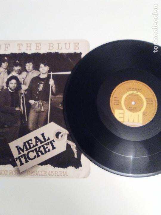Discos de vinilo: MEAL TICKET Out of the blue / Day job / Man from Mexico / Georgia syncopator ( 1977 EMI UK ) - Foto 3 - 186361196
