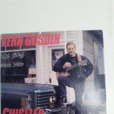 Discos de vinilo: VERN GOSDIN CHISELED IN STONE ( 1987 COLUMBIA USA ) EXCELENTE ESTADO. Lote 186363055