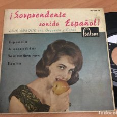 Discos de vinilo: LUIS ARAQUE (ESPAÑOLA +3) EP ESPAÑA 1961 (EPI03). Lote 186364773