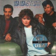 Discos de vinilo: LISA LISA AND CULT JAM / HEAD TO TOE / SINGLE CBS DE 1985 RF-4230 . Lote 186375016